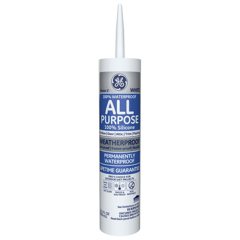 All Purpose Silicone 1 10.1 oz. White Window and Door Caulk