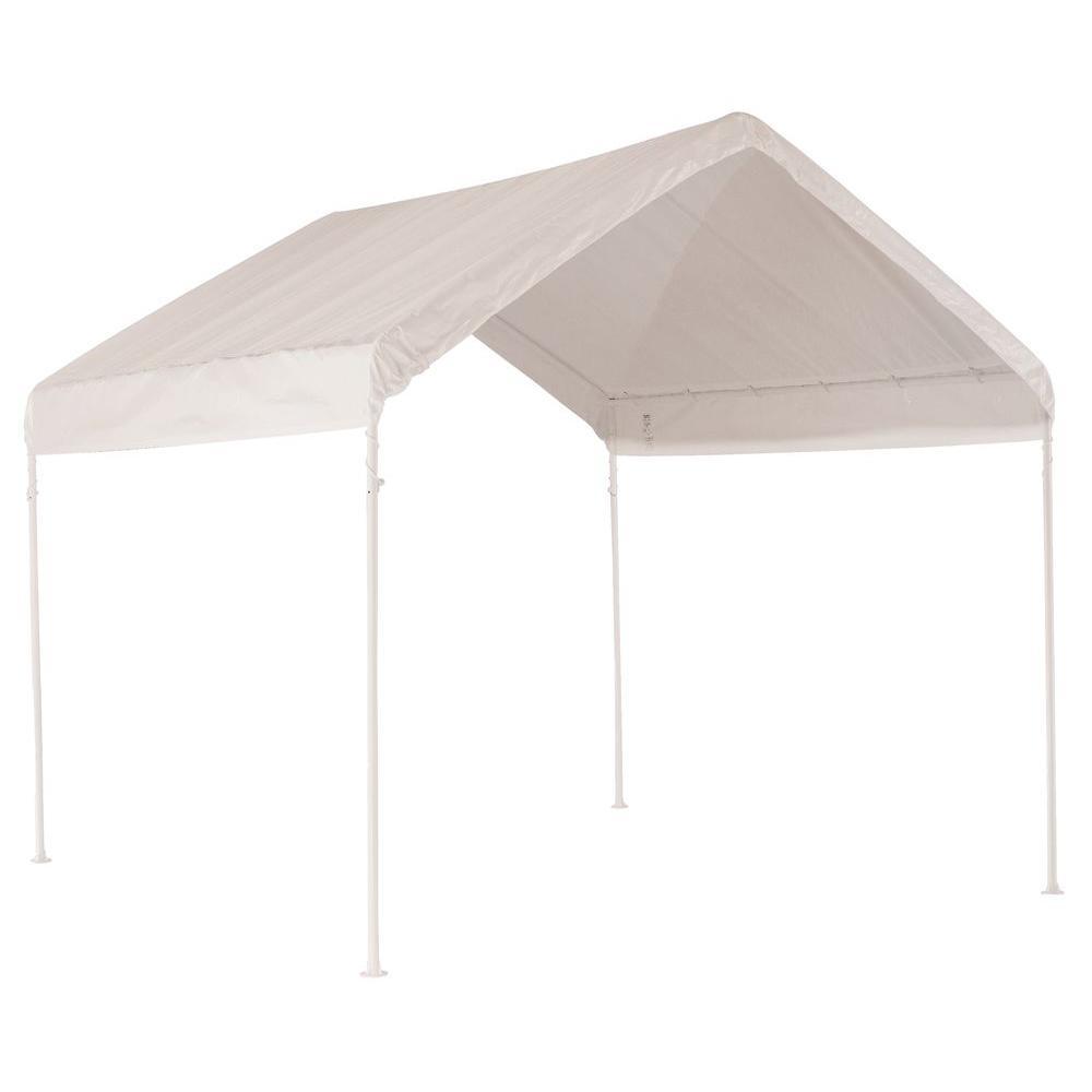 White Compact Canopy  sc 1 st  The Home Depot & ShelterLogic Sports Series 8 ft. x 8 ft. White Slant Leg Pop-Up ...