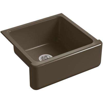 Whitehaven Farmhouse Apron-Front Cast Iron 24 in. Single Basin Kitchen Sink in Suede