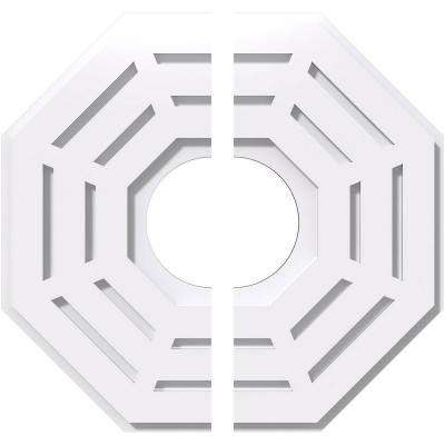 16 in. OD x 5 in. ID x 1 in. P Westin Architectural Grade PVC Contemporary Ceiling Medallion (2-Piece)
