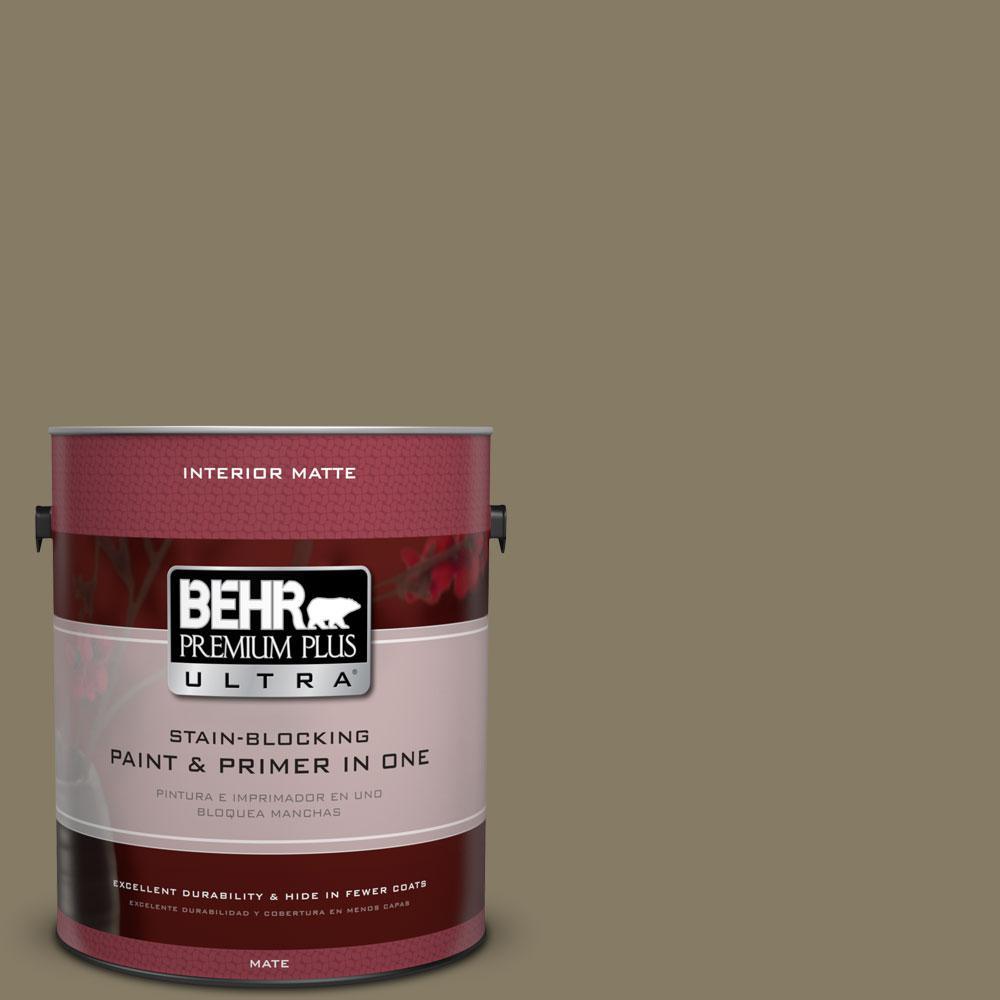 1 gal. #ECC-55-3 Olive Sprig Flat/Matte Interior Paint