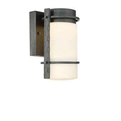 Aldridge Weathered Iron Outdoor LED Wall Lantern