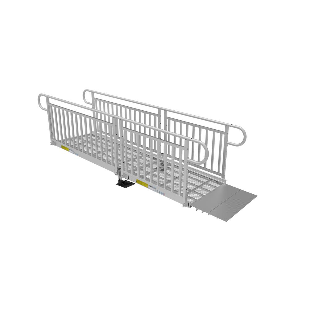 10 ft. Expanded Metal Ramp Kit with Vertical Pickets