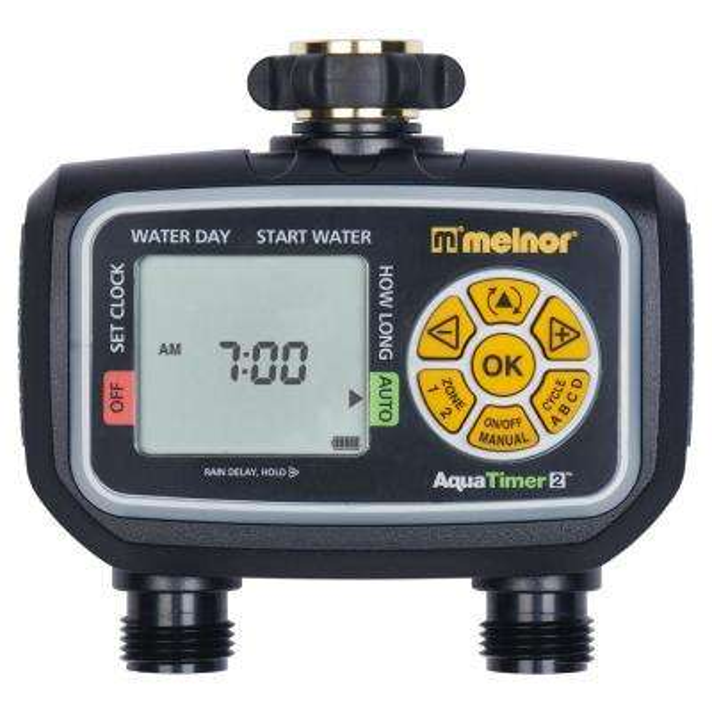 Melnor aqua mechanical water timer.