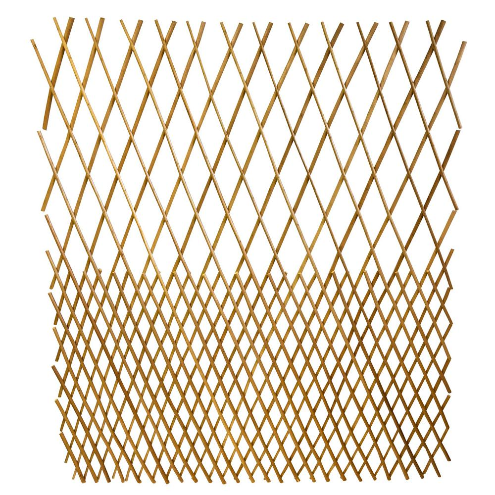 48 in. H Peeled Willow Open Top Pattern Fence