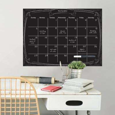 Black Pen & Ink Monthly Calendar Wall Decal
