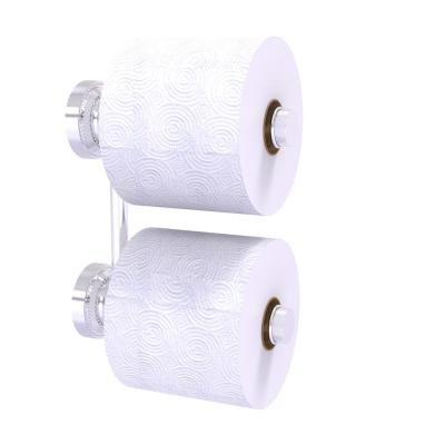 Dottingham Collection 2 Roll Reserve Roll Toilet Paper Holder in Satin Chrome