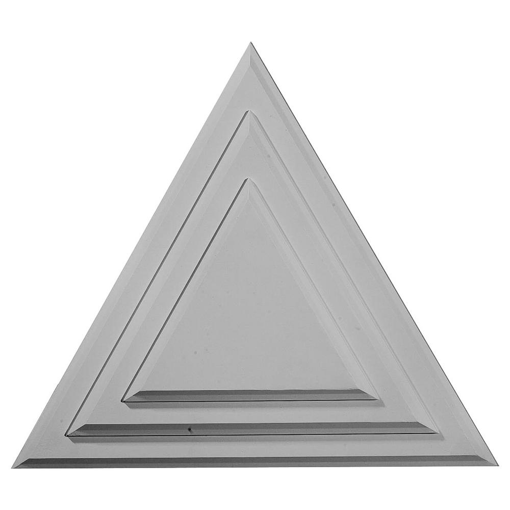 Ekena Millwork 19 in. W x 16-5/8 in. H x 1-1/8 in. Triangle Urethane Ceiling Medallion, Hand-Painted Flash Gold