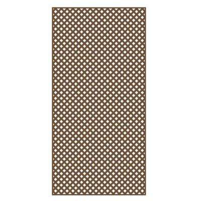 0.2 in. x 48 in. x 8 ft. Brazilian Walnut Vinyl Privacy Diamond Lattice