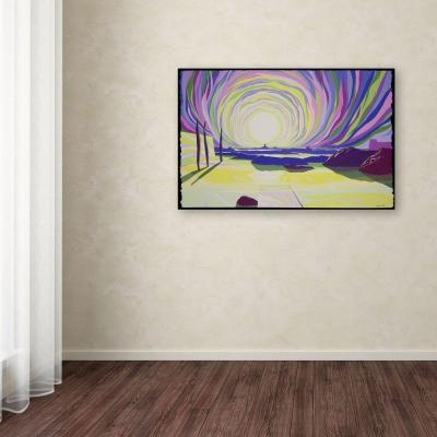 14 in. x 19 in. Whirling Sunrise, La Rocque Canvas Art