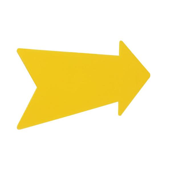 9.25 in. x 23 in. Corrugated Plastic Yellow Arrow Create-A-Sign