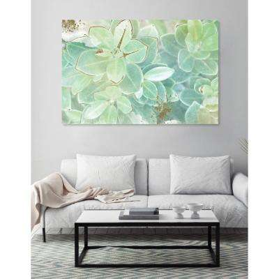 24 in. x 16 in. 'Soft Leaves' by Oliver Gal Printed Framed Canvas Wall Art