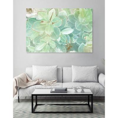 45 in. x 30 in. 'Soft Leaves' by Oliver Gal Printed Framed Canvas Wall Art