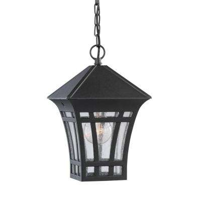 Herrington Black 1-Light Outdoor Hanging Pendant