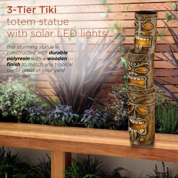 Giants 16 Inch Tiki Totem Pole Outdoor Resin Home Garden Statue Decoration Baseball Rico Industries Inc