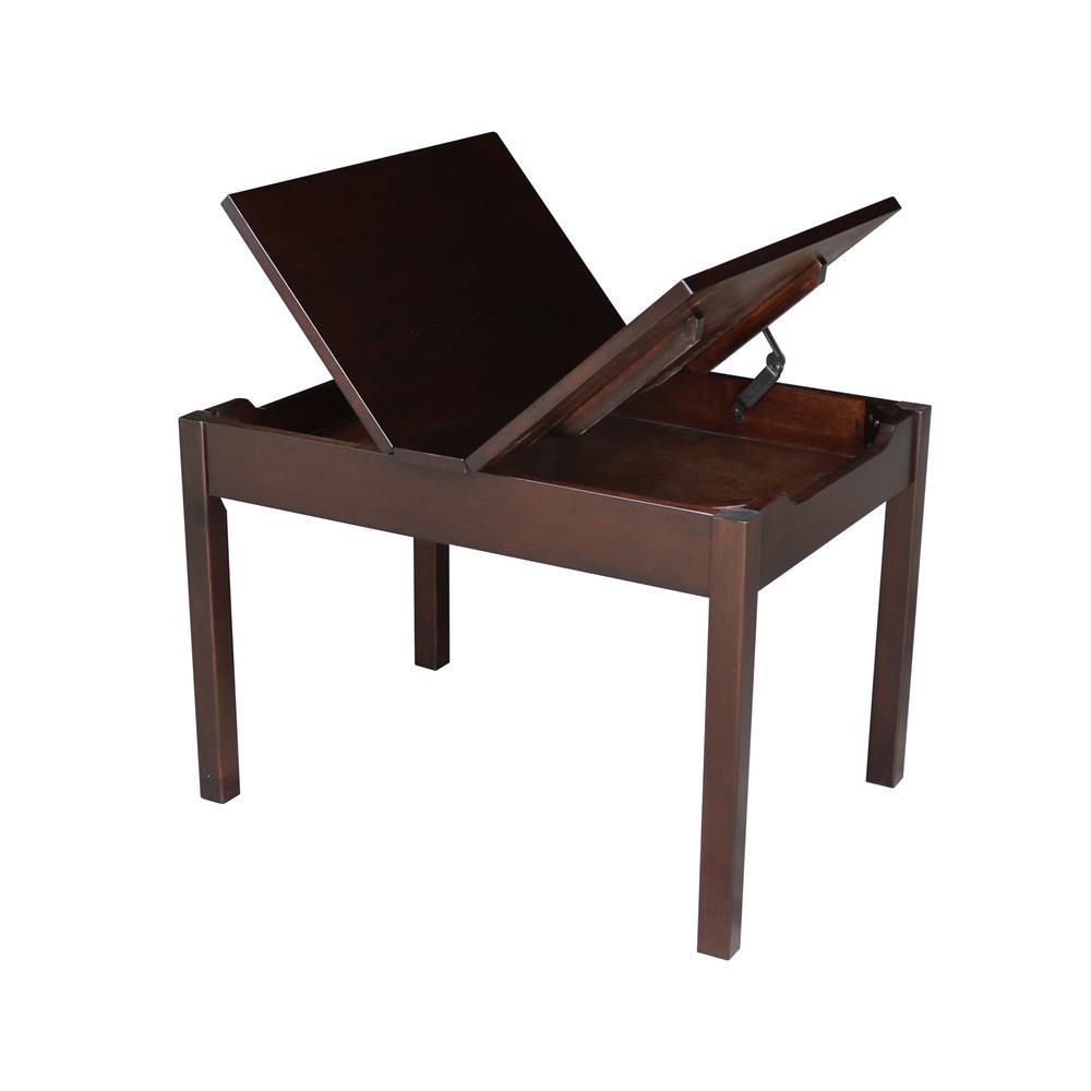 Phenomenal International Concepts Rich Mocha Kids Lift Top Storage Dailytribune Chair Design For Home Dailytribuneorg