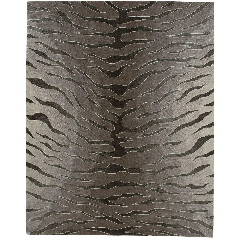Nourison Contour Silver 7 ft. 3 in. x 9 ft. 3 in. Area Rug