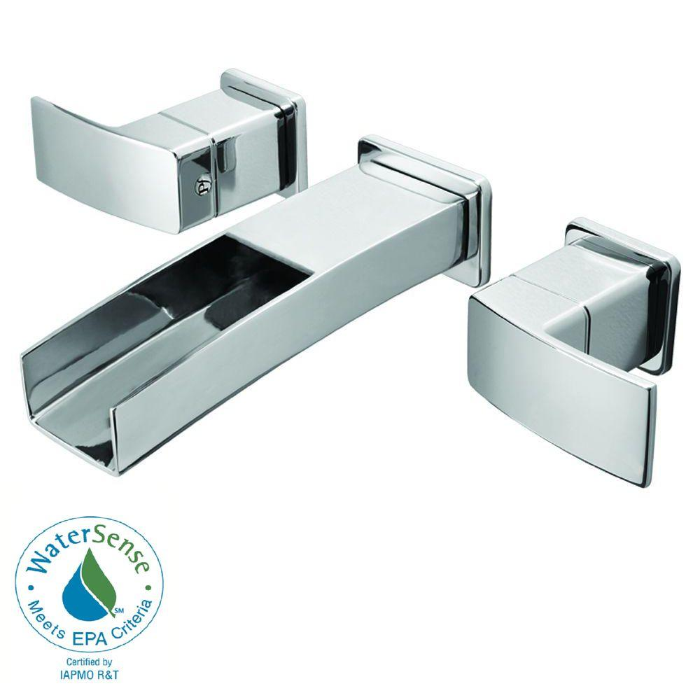 Pfister Kenzo 2-Handle Wall Mount Bathroom Faucet in Polished Chrome