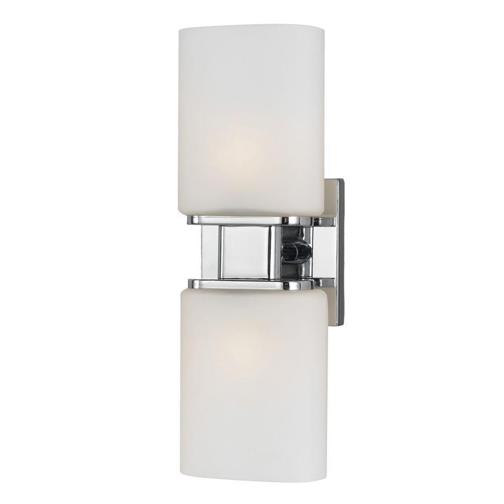 Eurofase Dolante Collection 2-Light Chrome Sconce