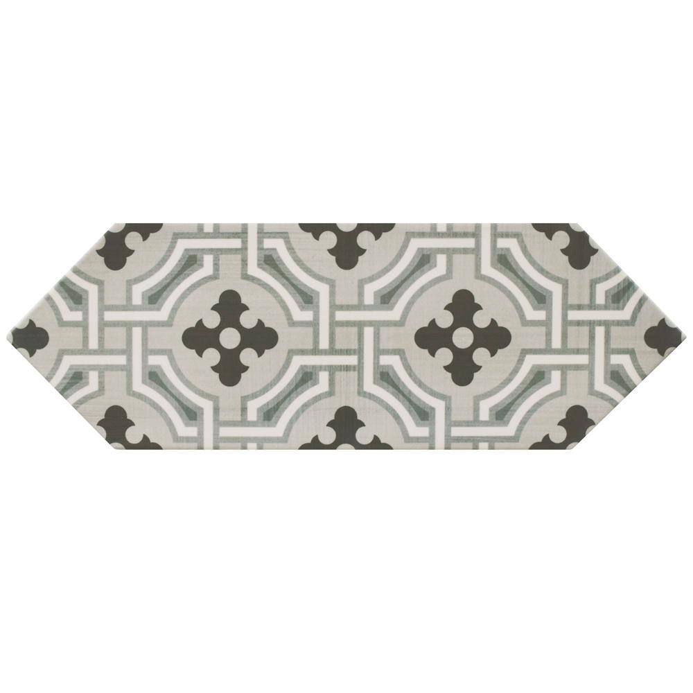 Kite Century Grey 4 in. x 11-3/4 in. Porcelain Floor and