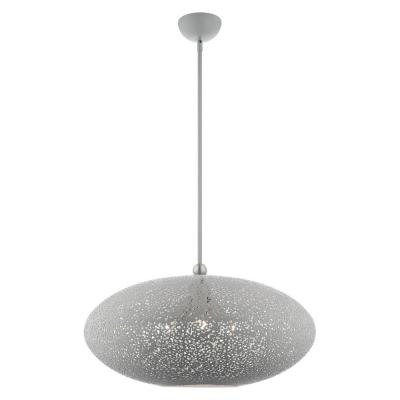 Charlton 3-Light Nordic Gray Large Pendant with Metal Shade