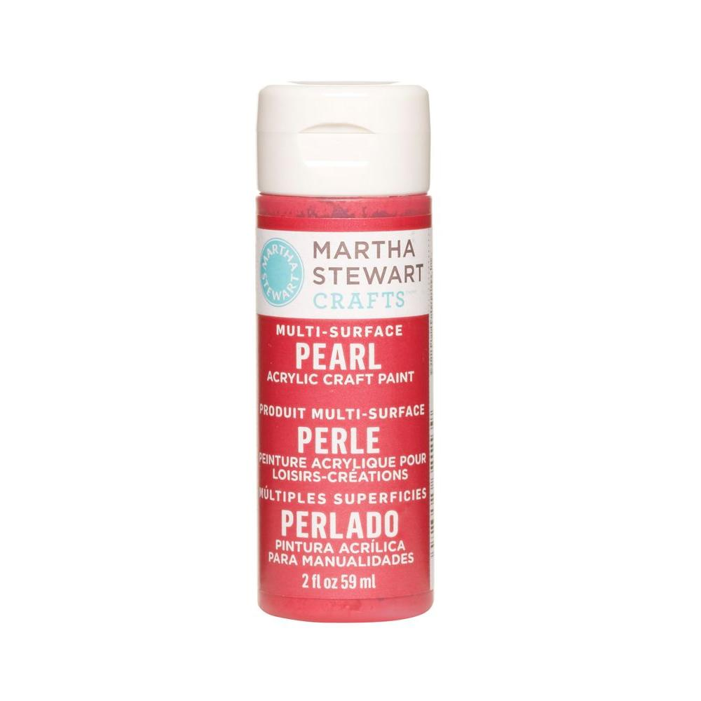 Martha Stewart Crafts 2-oz. Holly Berry Multi-Surface Pearl Acrylic Craft Paint