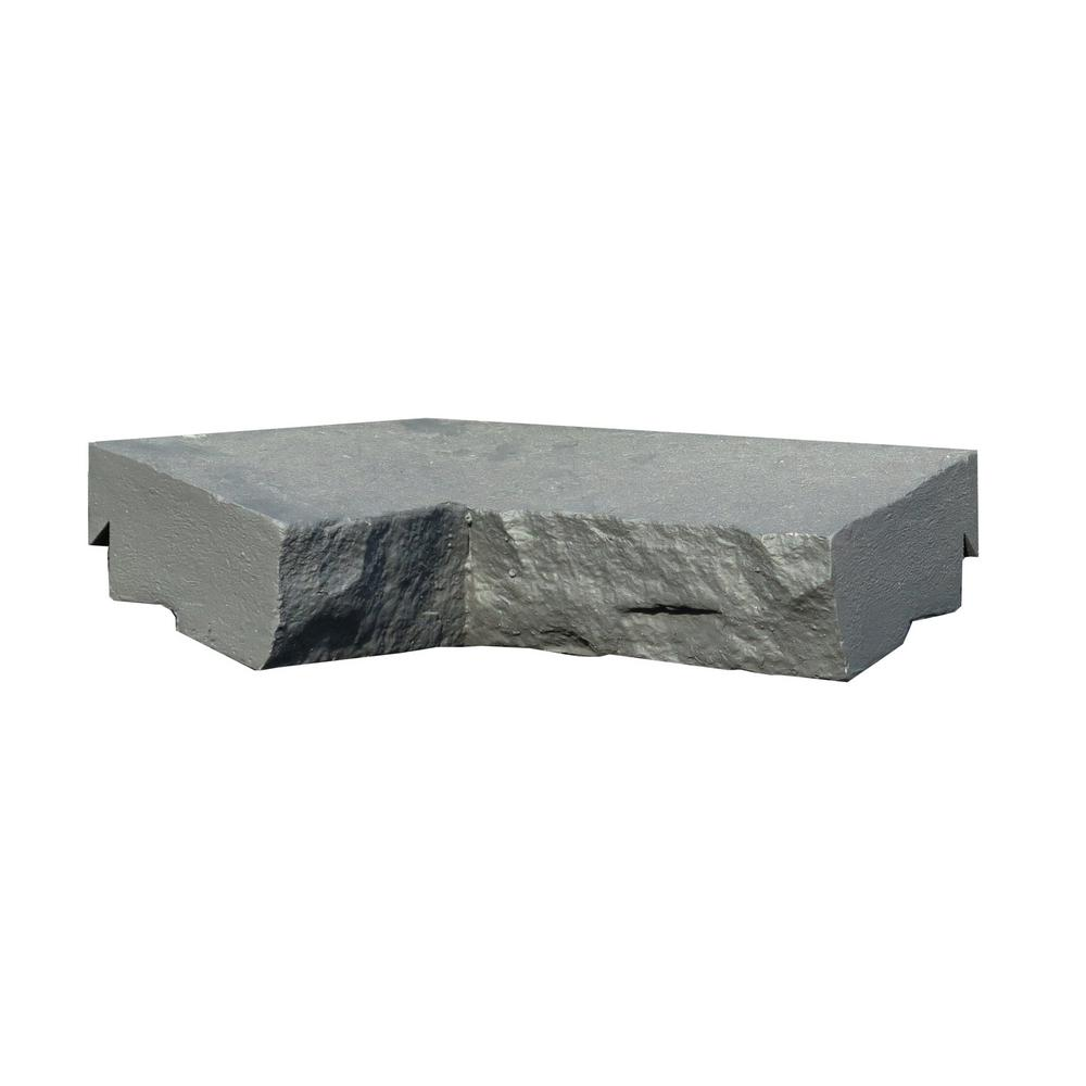 Sandstone Charcoal 9.75 in. x 7.5 in. Faux Stone Ledger Inside