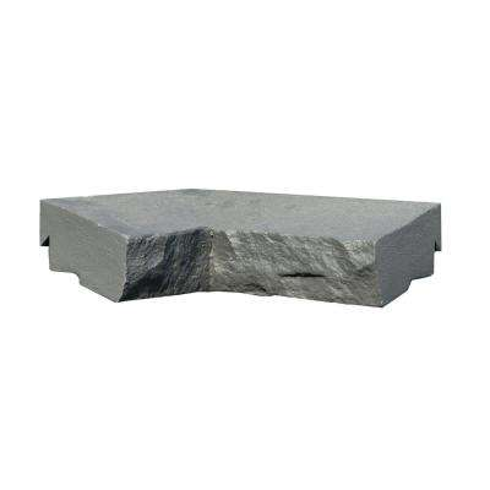 Sandstone Charcoal 9.75 in. x 7.5 in. Faux Stone Ledger Inside Corner (2-Pack)
