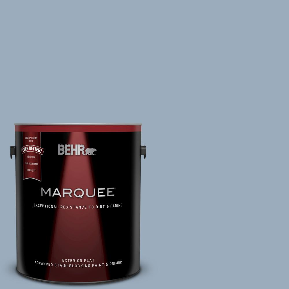 560f 4 Russian Blue Flat Exterior Paint And Primer In One