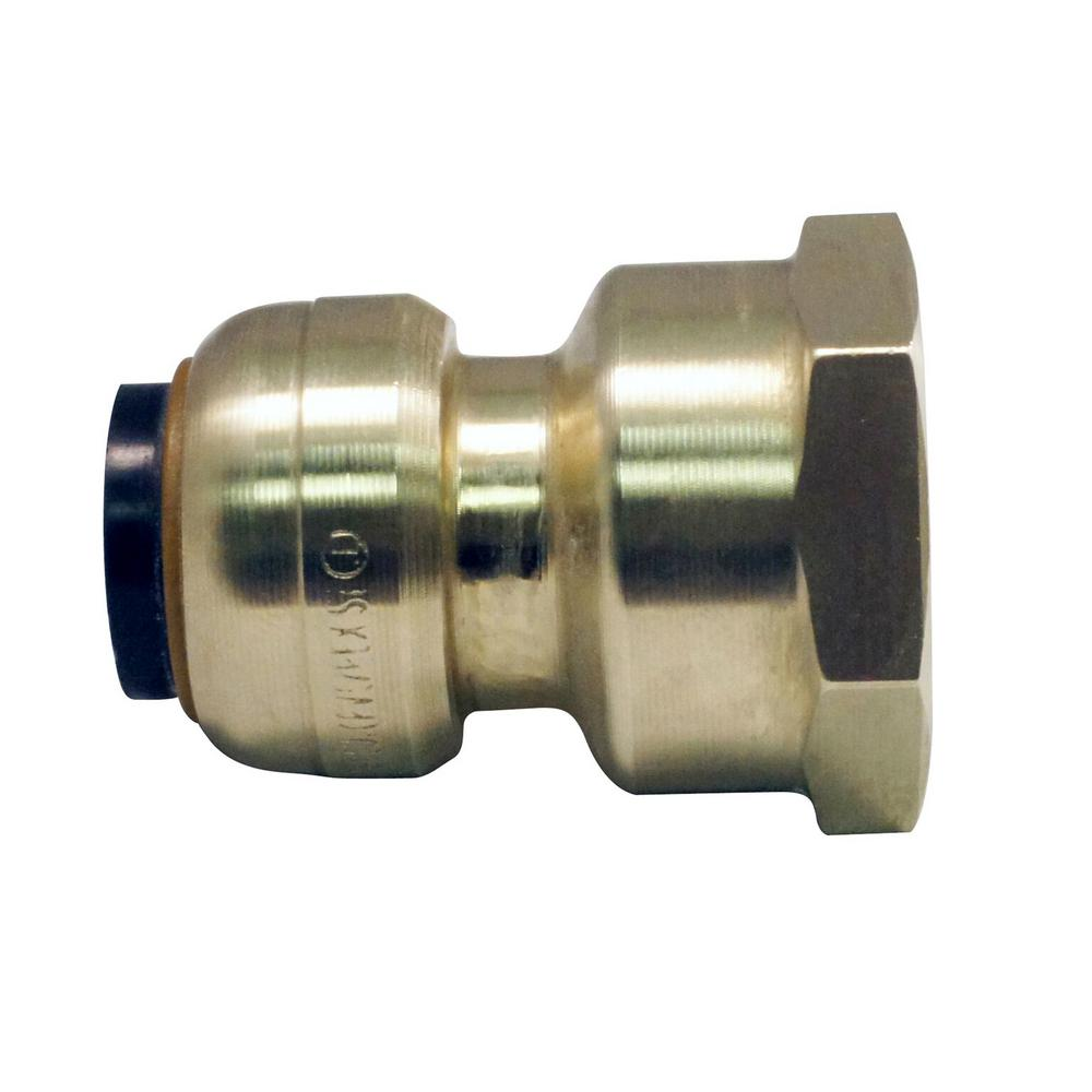 Push To Connect Fittings >> Tectite 1 2 In Brass Push To Connect X 3 4 In Female Pipe Thread Reducing Adapter
