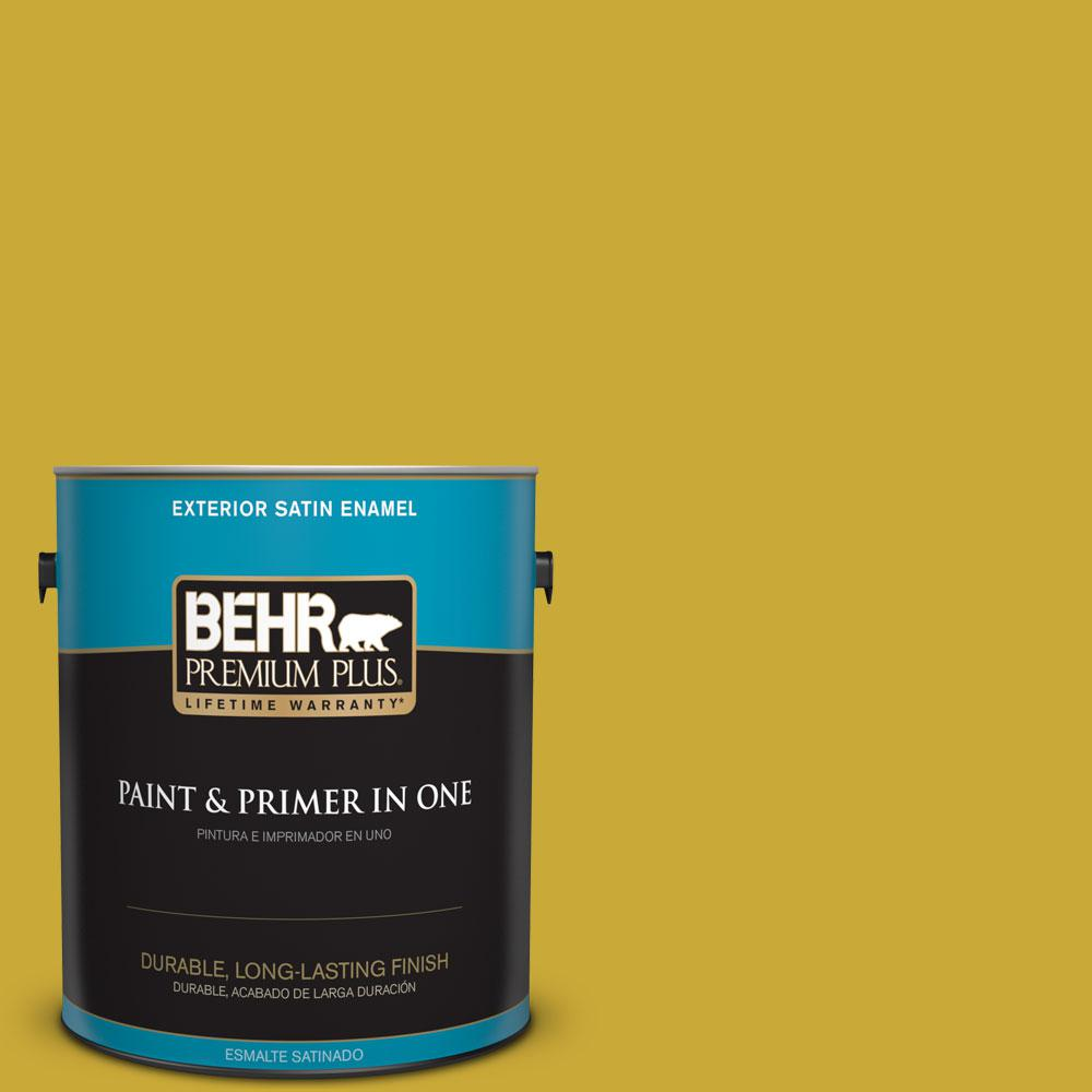 1-gal. #P320-7 Sweet and Sour Satin Enamel Exterior Paint