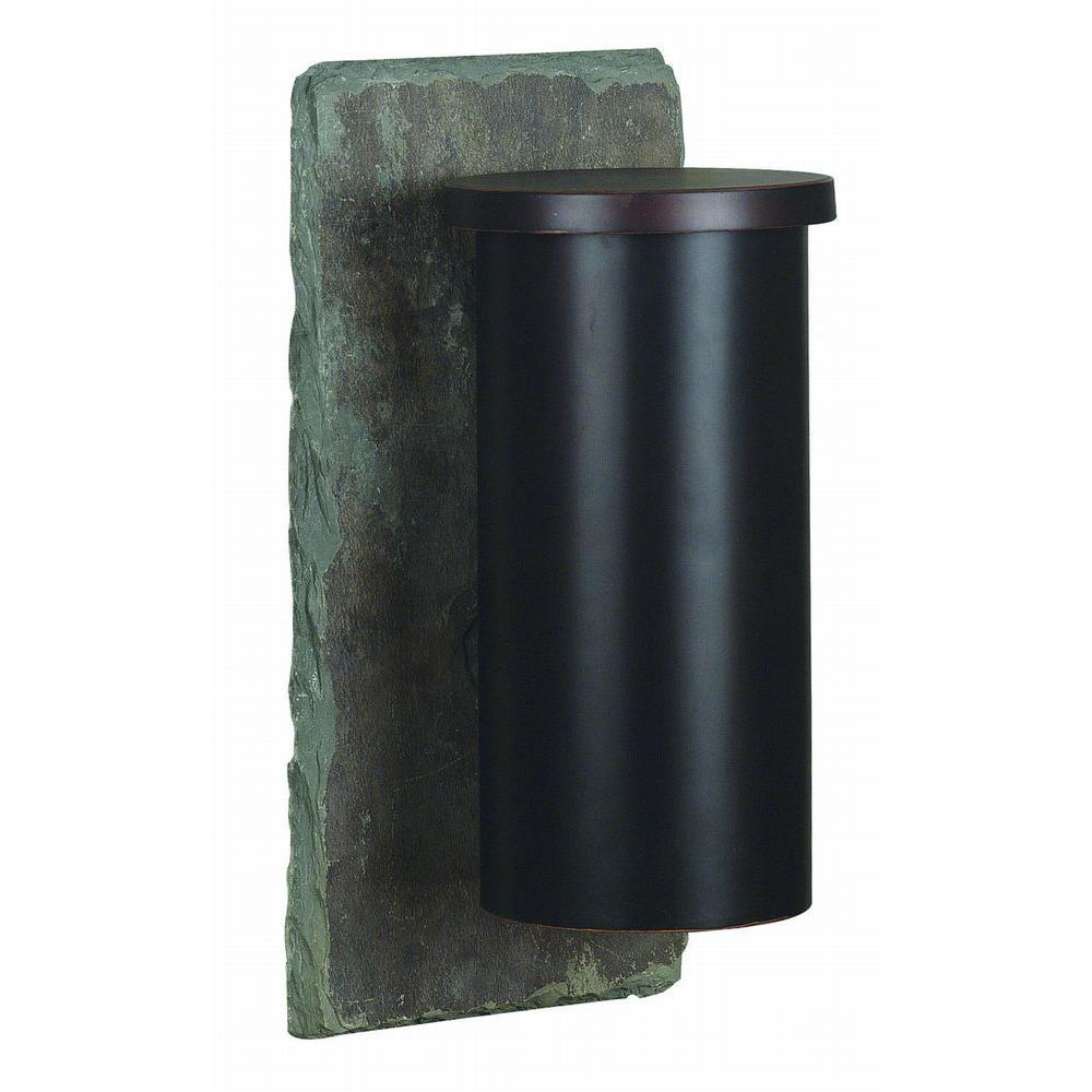 Kenroy Home Oakley 1-Light 16 in. Natural Slate Wall Lantern-DISCONTINUED