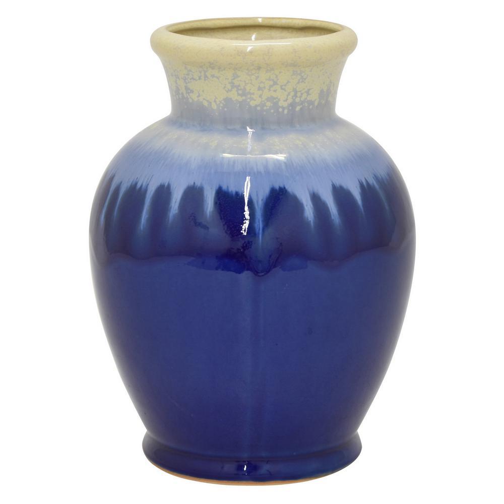8 in. Ceramic Vase in Blue