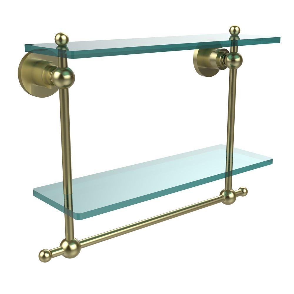 Allied Brass Astor Place 16 in. L x 12 in. H x 5 in. W 2-Tier Clear ...