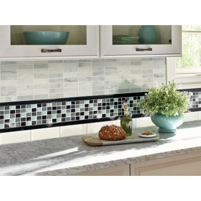 Absolute Black Pencil Molding 3/4 in. x 12 in. Polished Granite Wall Tile (1 lin. ft.)