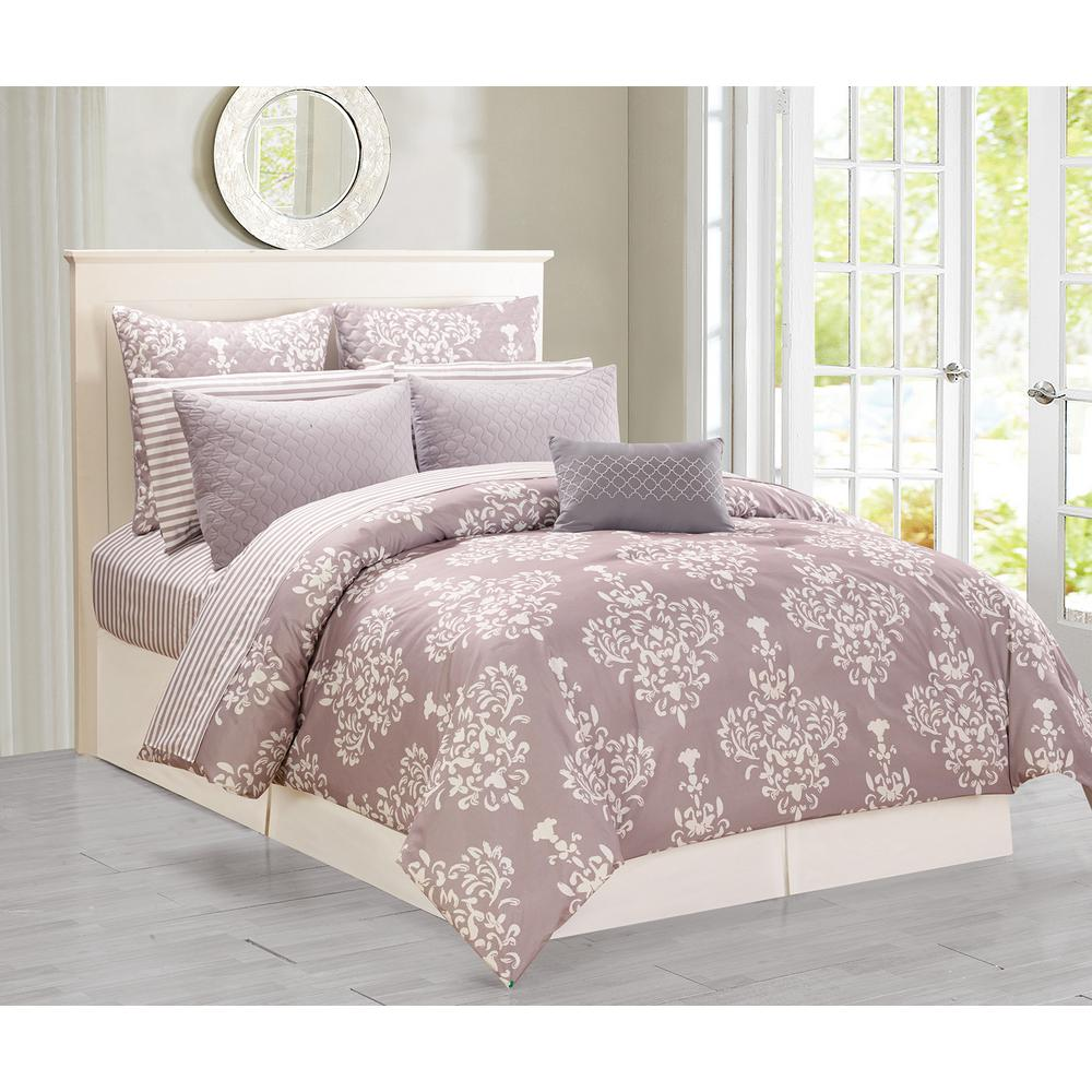 and grey home well linen interior nuance brown queen also pattern bring warm gray as design comforter bedroom on comforters bed upholstered bedrom marvelous bedding floral for your sets beds decor ivory ideas