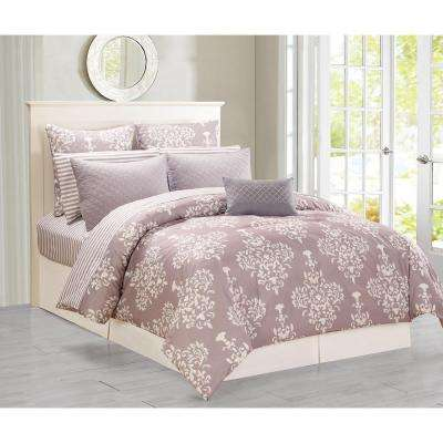 Alisa Light Grey Queen Comforter Set (10-Piece)