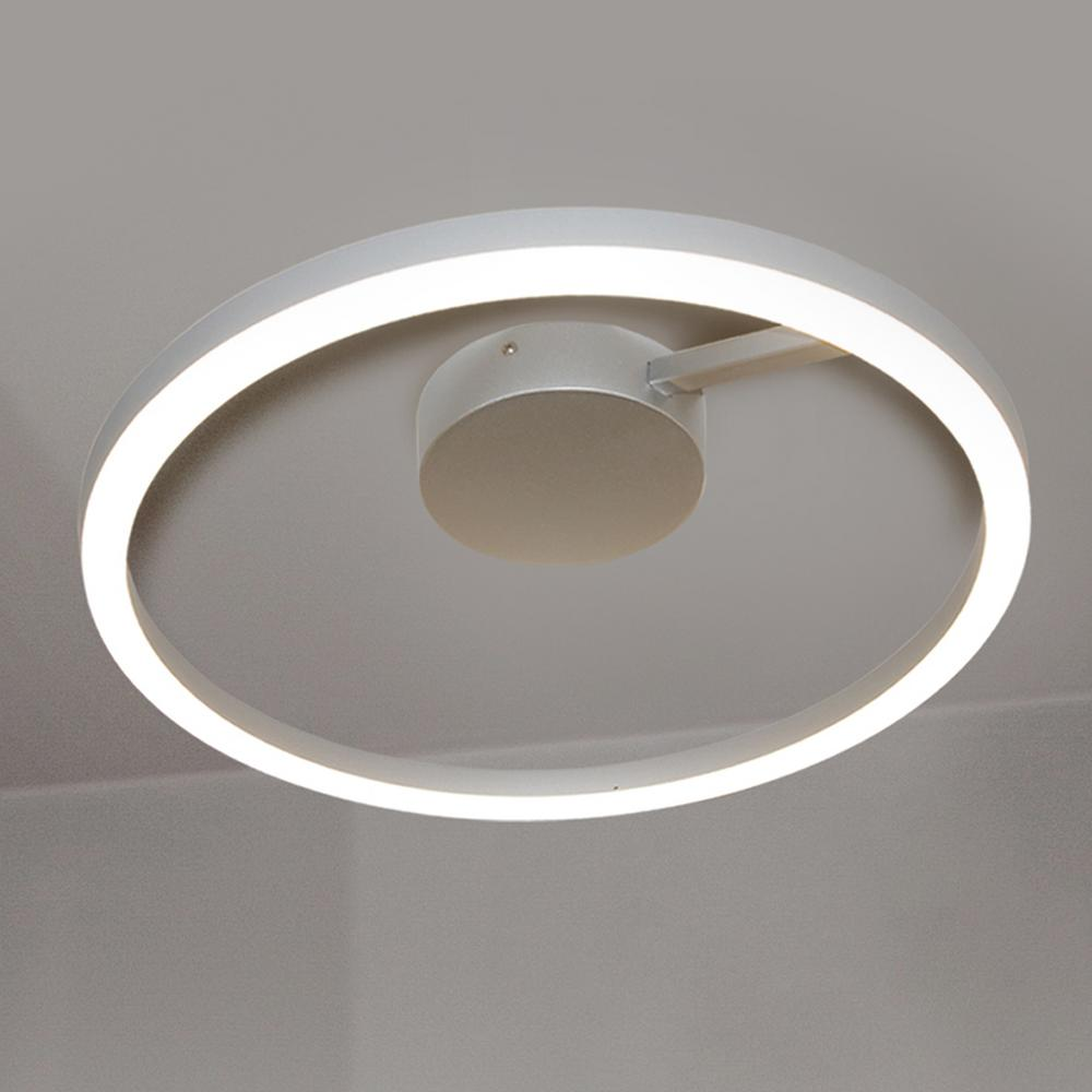 Vonn Lighting Zuben Collection 20 In Silver Integrated Led Modern Circular Ceiling Fixture