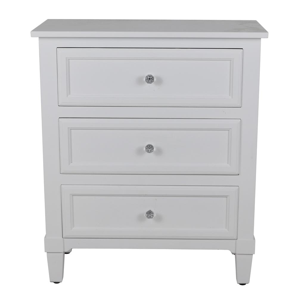 Becket White Side Table