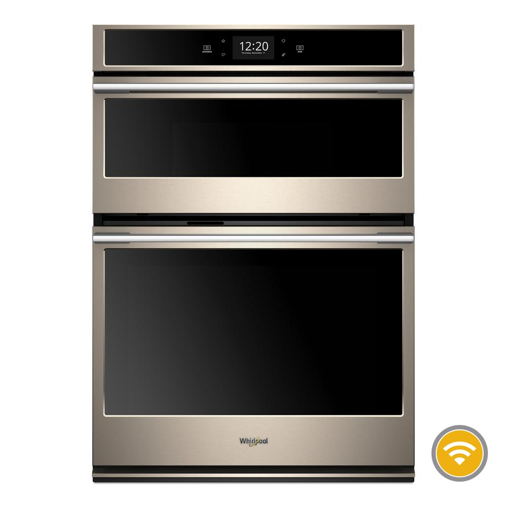 Whirlpool 6.4 cu. ft. Smart Combination Electric Wall Oven with Built-In Microwave in Fingerprint Resistant Sunset Bronze
