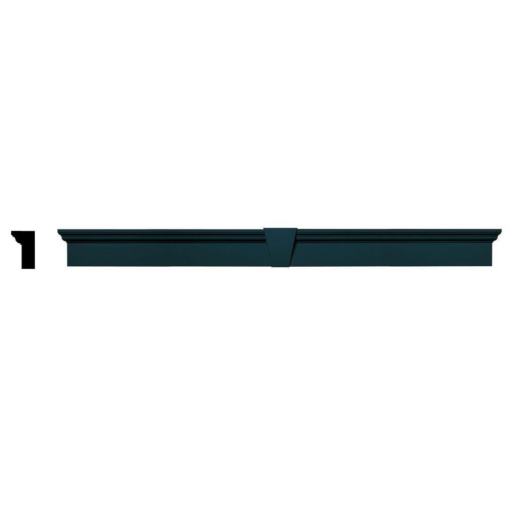 Builders Edge 2-5/8 in. x 6 in. x 73-5/8 in. Composite Flat Panel Window Header with Keystone in 166 Midnight Blue