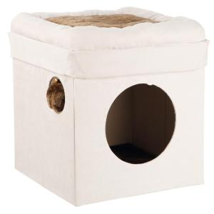 TRIXIE Gray and Light Gray Miguel Fold-and-Store Collapsible Cat Condo by TRIXIE
