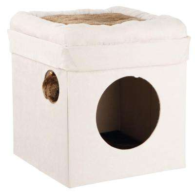 Gray and Light Gray Miguel Fold-and-Store Collapsible Cat Condo