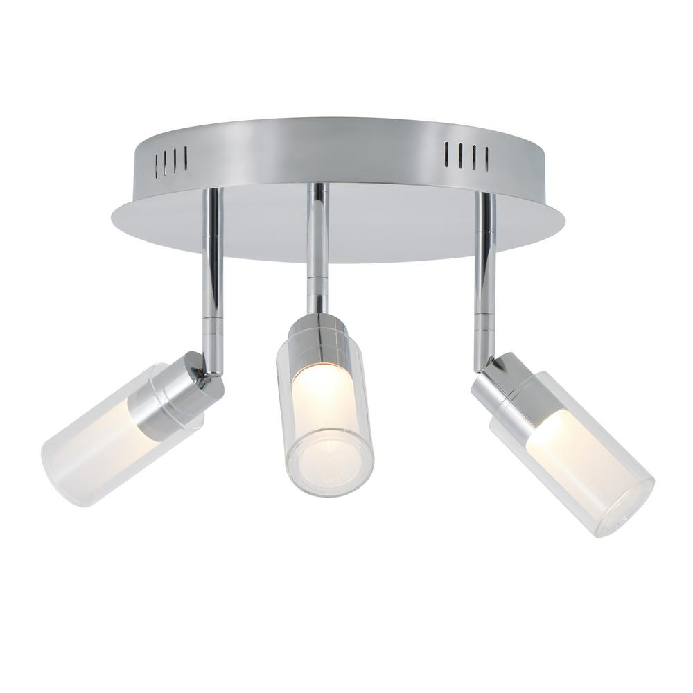 Artika Matrix Sky 10.8 in. 3-Light Chrome LED Semi-Flush Mount was $79.97 now $49.97 (38.0% off)