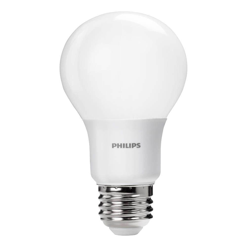 philips 40 watt equivalent a19 dimmable led light bulb daylight 4 pack 461160 the home depot. Black Bedroom Furniture Sets. Home Design Ideas