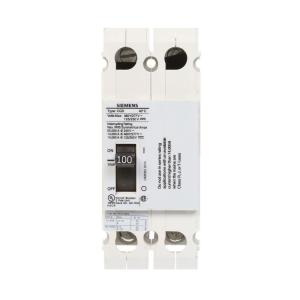 Siemens 100 Amp Double Pole Type CQD Cable In Cable Out DIN Rail Circuit Breaker by Siemens