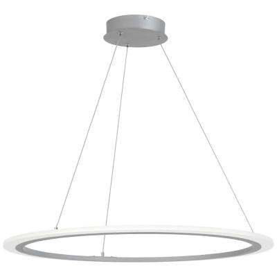 Discovery 75-Watt Equivalence Silver Integrated LED Pendant