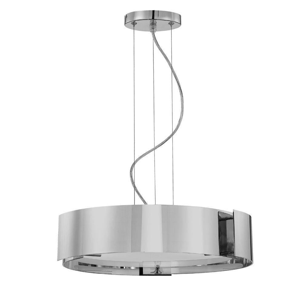 Eurofase Dervish Collection 5-Light Satin Nickel Hanging Large Pendant