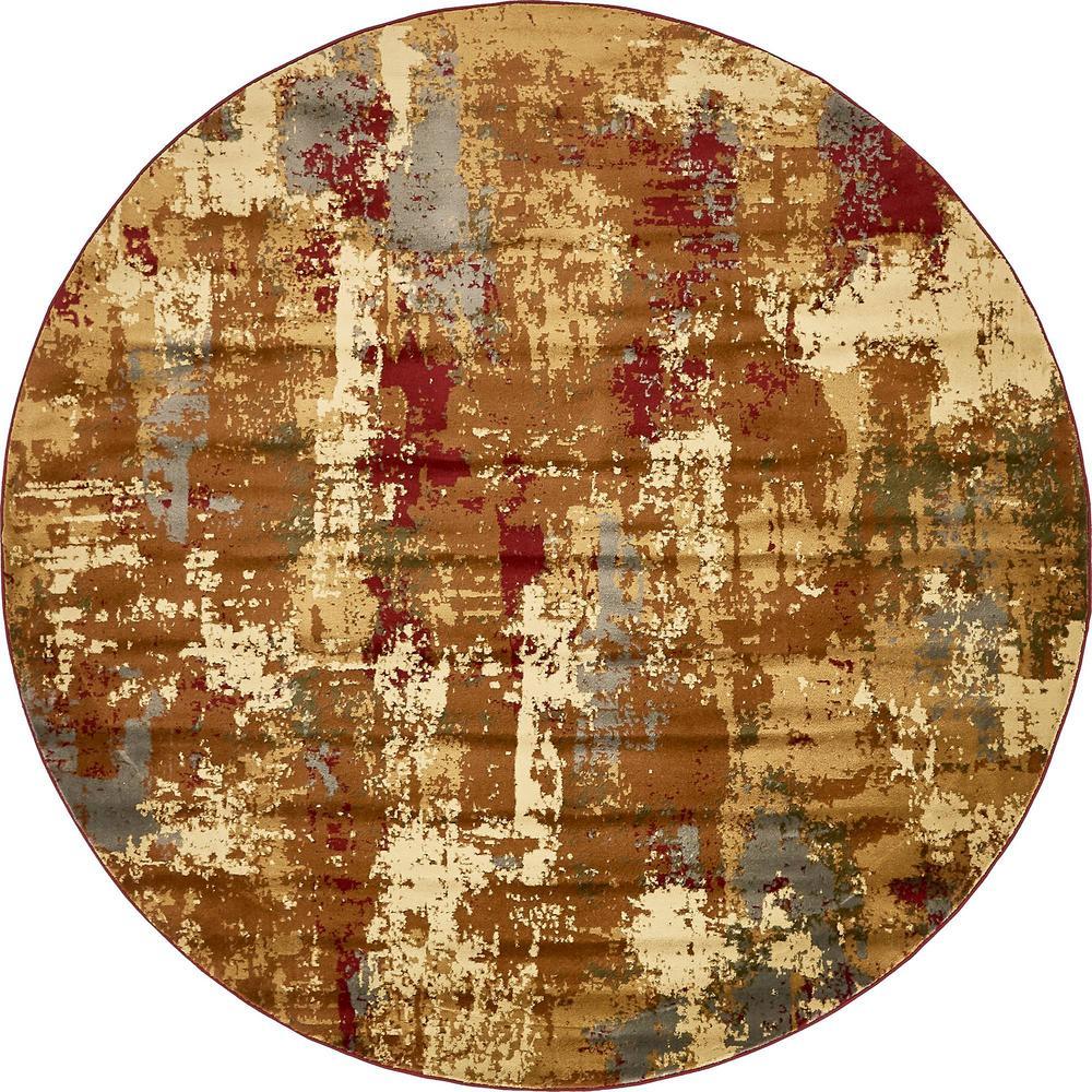 Unique Loom Barista Paca Beige 8 0 X 8 0 Round Rug 3137937 The