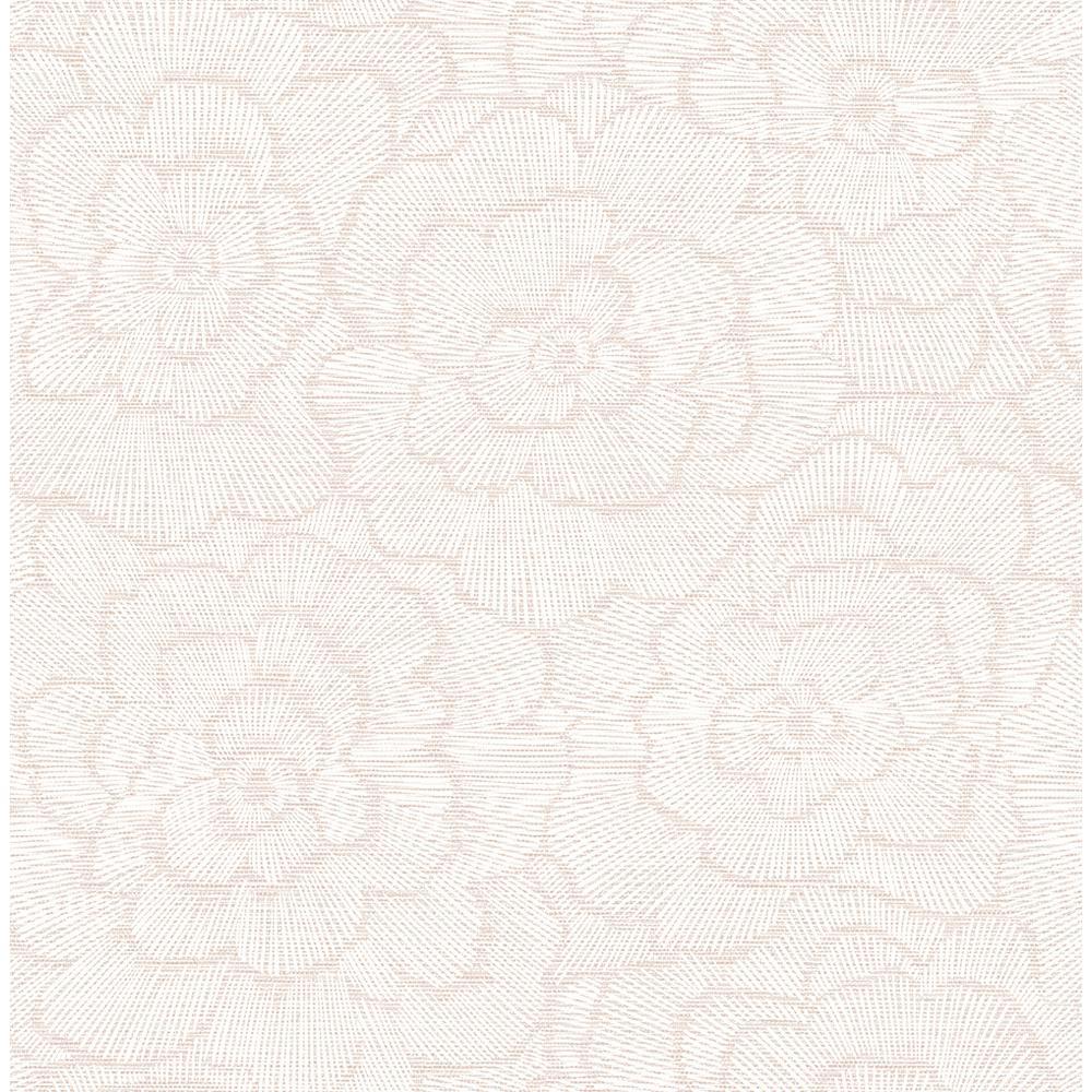 Periwinkle Pink Textured Floral Pink Wallpaper Sample